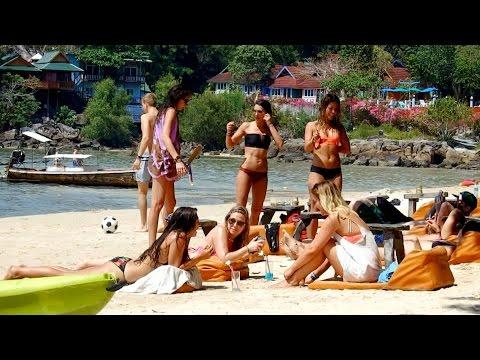 Loh Dalum Beach Phi Phi Island  Thailand March 2016