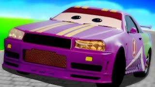 Sports Car And Tow Truck Car Garage | Cartoon For Kids | Video For Toddlers