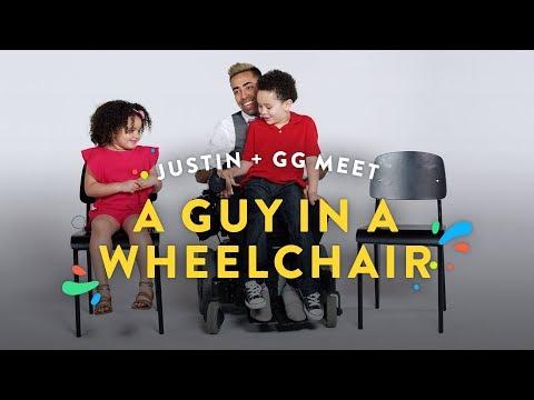 Kids Meet a Man in a Wheelchair Justin and GG Kids Meet HiHo Kids