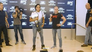 UFC 215: Amanda Nunes vs. Valentina Shevchenko Media Day Staredown - MMA Fighting