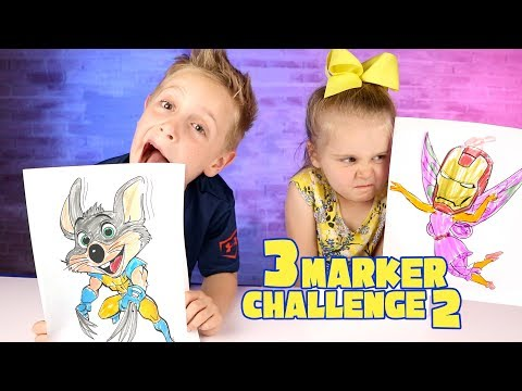 3 Marker Challenge Chuck E Cheese with Wolverine Claws Avengers Infinity War