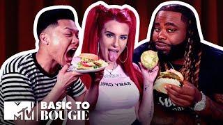 $20 Veggie Burgers 🍔 & $8 Frog Legs ft. Justina Valentine | Basic to Bougie Season 3 | MTV