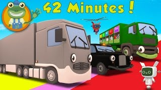 Larry The Lorry and More Big Trucks For Children | Gecko
