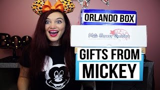 DISNEY UNBOXINGS   THE ORLAND BOX. MAIN STREET CREATIONS. GIFTS FROM MICKEY.