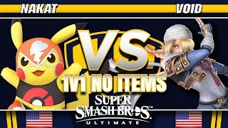 NAKAT (Pikachu/Inkling) vs. Void (Sheik/Ridley) - SSBU Demo - TBH8