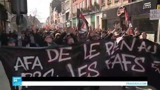 مظاهرات ضد مارين لوبان في ليل