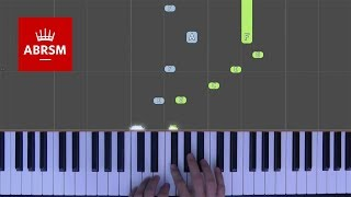 The Cat / ABRSM Piano Grade 2 2017 & 2018, C:2 / Synthesia 'live keys' tutorial