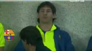 Lionel Messi gives a slap