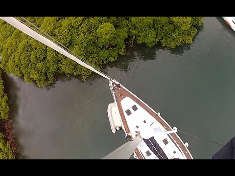 Tying Sailboat in Mangrove for a Hurricane Not for Irma
