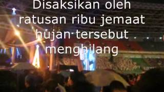 Hujan dihentikan - disaksikan ratusan ribu jemaat (Natal 2012)