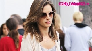Alessandra Ambrosio's Daughter Anja Jokes With Paparazzi That Her Mom Wants Privacy 6.11.16