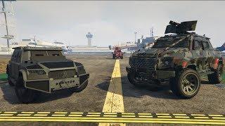 GTA 5 Durability Test (Nightshark vs. Insurgent Pick-Up Custom)