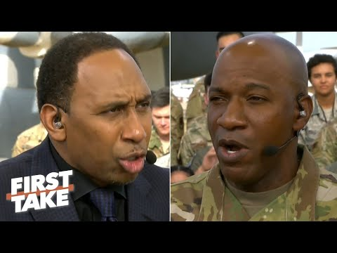 Stephen A. debates Cowboys and Lakers with the Chief Master Sergeant of the Air Force First Take