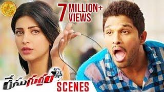 Shruti Haasan's Character Shocks Allu Arjun   Race Gurram Movie Scenes   Surender Reddy   Thaman S