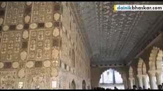 Sheesh Mahal - The Glass Palace or Sheesh Mahal at Amber Fort Jaipur
