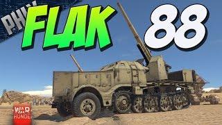 FLAK 88 HALF-TRACK - 5 Second 88mm Reload - (War Thunder Tank Gameplay)