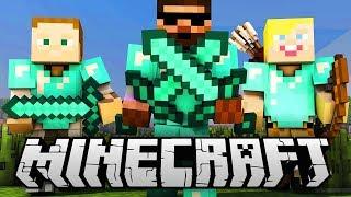 HRAJEME S DIVÁKY!   Minecraft minihry ŽIVĚ   Pedro, Gejmr a Jirka