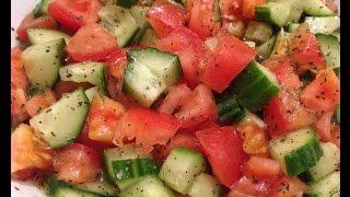 How To Make Lebanese Healthy Salad  -  طريقة تحضير السلطة على الطريقة اللبنانية