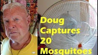 Doug Traps 20 Mosquitoes With Bug Bagger, No Chemicals