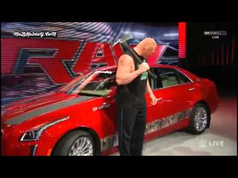 Brock Lesnar Destroys J&J's Car and Scare the Hell out of Seth Rollins