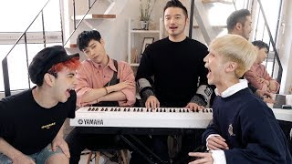 Guessing boy group kpop songs on the piano this time lol - Edward Avila