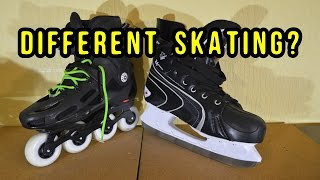 INLINE vs ICE SKATING ..  Differences Explained