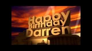 Happy Birthday Darren