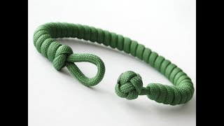 How to Make a Simple Quick Deploy Single Strand Knot and Loop Paracord Survival Bracelet-CbyS