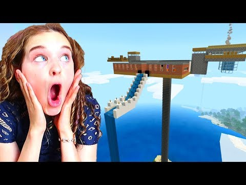 WHO BUILDS THE BEST SKY BASE in Minecraft Gaming w The Norris Nuts
