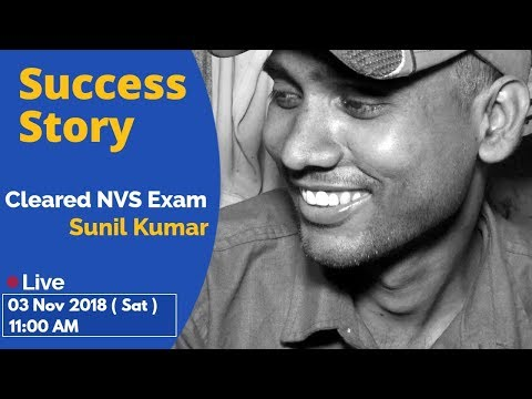 Xxx Mp4 Success Story I Cleared NVS Exam Sunil Kumar I Motivational Story 3gp Sex