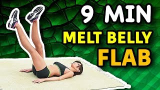 9 Minute Workout Melts Belly Flab and Builds Ab Muscles