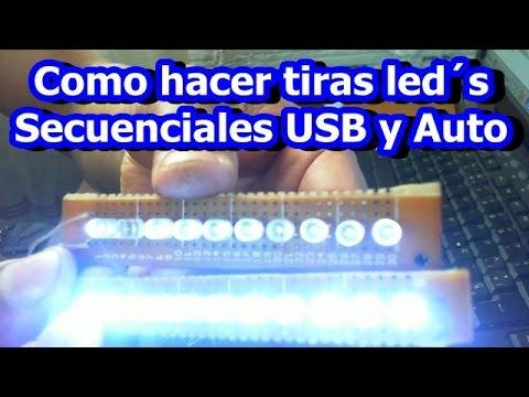 Como hacer luces led secuenciales 10 leds para PC y Auto