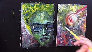 Two Small Acrylic Paintings (And Coffee Tasting) (You Send it, I Art it)