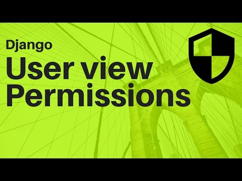 Django user permissions
