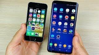 iPhone SE vs Galaxy S9 Plus Speed Test!