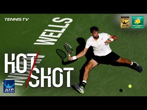 Xxx Mp4 Hot Shot Chardy Federer Put On A Show At Indian Wells 2018 3gp Sex