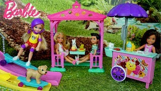 Barbie Baby Sister  Chelsea Skating Park , Ice Cream Stand and Picnic Playset