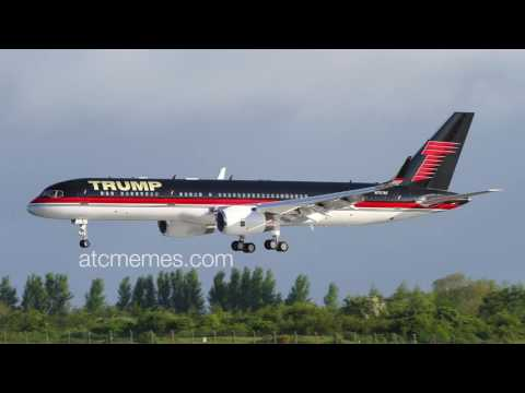 watch The Trump plane and air traffic control joke together!