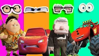Up Movie Wrong Eyes Blaze Monster Machines Disney Cars 3 Mcqueen Learn Colors Finger Family Song Kid