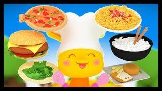 Apprendre les plats, les aliments, les légumes, et les fruits en français - Titounis Découverte