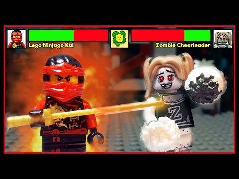 Lego Ninjago Kai Vs Zombie Cheerleader With Healthbars