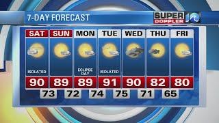 Saturday AM 8/19 Super Doppler 10 Forecast