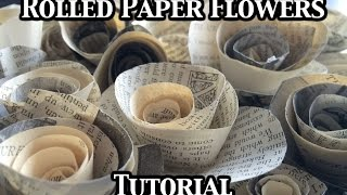 Rolled Paper Flowers Tutorial