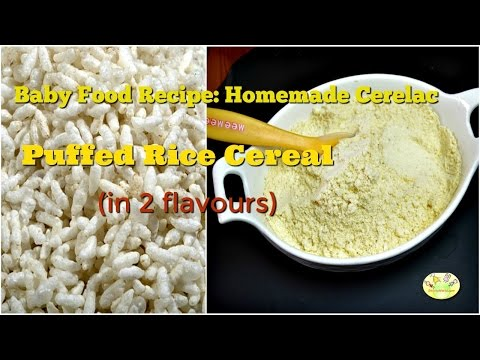 Instant Puffed Rice Cereal for Babies in 2 flavours| Homemade travel cereal for babies