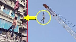 Tiger Shroff's Amazing Stunt On Crane For Baaghi 2
