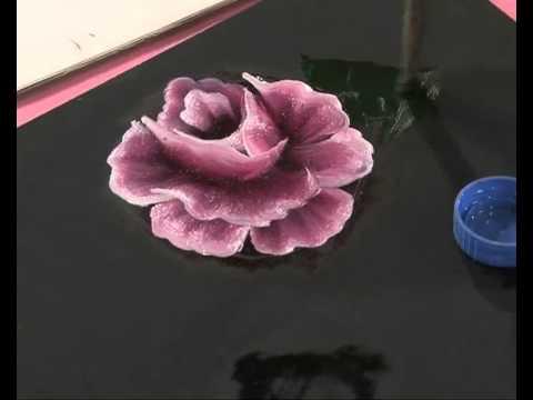 Pintar rosas y hojas Pinceladas Silvia Mongelos