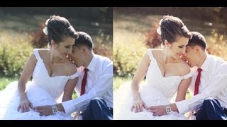 photoshop wedding before and after