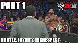 WWE 2K15 2K Showcase Walkthrough Part 1 - CM Punk vs John Cena Money in the Bank Legend Difficulty