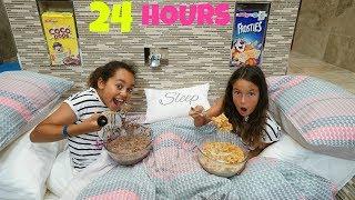 24 HOUR CHALLENGE OVERNIGHT IN MY BATHROOM!!