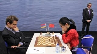 75th Tata Steel Chess 2013 - Aronian quickly beats Hou Yifan in Round 8!